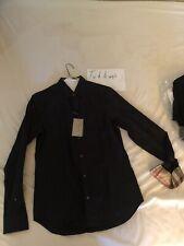 NWT Burberry Cambridge Black Shirt Size S
