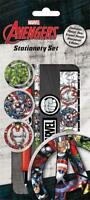 Marvel Avengers - 5 Piece Stationary Writing Set Birthday Party Bag Filler Gift