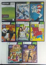 Lot of 8 XBOX 360 Kinect / XBOX Games Star Wars Biggest Loser Kung Fu Panda More
