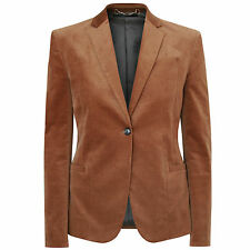 GUCCI golden brown velvet smoking jacket fitted one-button blazer 40-IT/4-US