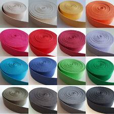 1,56 EUR/m - 5 Meter Gurtband 30mm Baumwolle 16 Farben - Taschengurt Trageriemen