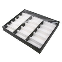 18 Slots Sunglasses Storage Display Stand Glasses Case Organizer Box Holder