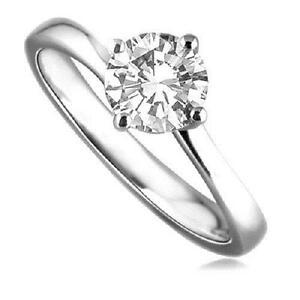 Engagement Ring Solitaire Twist Shank Diamond Platinum UK Hallmarked
