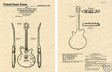 GIBSON LES PAUL SIGNATURE ES-335 PATENT Art Print guitar READY TO FRAME ES 335