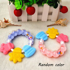 Fashion Baby Rattle Teether Silicon Infant Molar Tooth Care Bed Bell Rattles Pac