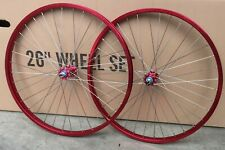 "Bmx 29 x1.75"" Bicycle Bike Front & Rear Wheel Double Walls Sealed Bearing Red"