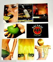 Alcohol Bacardi Limon Rum Advertising Postcards 1990's (Lot of 8)  Free Shipping