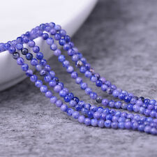 """4mm Smooth Round Blue Sodalite Beads Loose Gemstone Beads for Jewelry Making 15"""""""