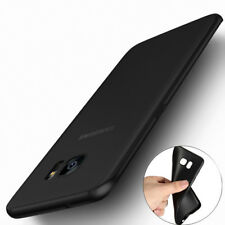COVER per SAMSUNG Galaxy S6 S7 Edge MORBIDA ANTI-IMPRONTA OPACA SOFT 0.3mm Nera