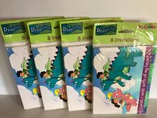 4 x 8 pack Dragon Tales Sony American Greetings Party Invitations 2001