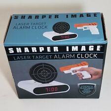 Laser Gun Alarm Clock Sharper Image Shoot to Stop Target Shooting + batteries