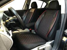 Sitzbezüge Schonbezüge für Seat Leon schwarz-rot V1222327 Vordersitze