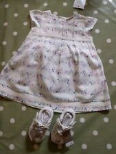 Next Baby Girl Ditsy Floral Robe, culotte et chaussures Set 3-6 Mois BNWT!!!