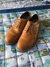 Mens Clarkes Shoes 10 G Tan Leather