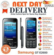 Samsung GT E2600 Slide 2MP Camera Bluetooth FM Radio Black Unlocked Mobile Phone