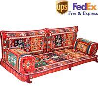 Floor Seating Sofa Arabic Turkish Majlis Oriental Sofas Bohemian Couch Red FOAM