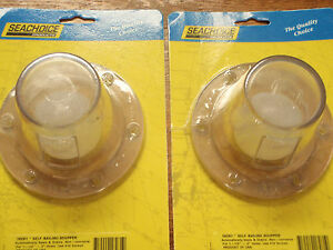 SCUPPER SELF BAILING RABUD 18281 CLEAR PAIR SCUPPERS WITH BALL 4-1/2 OVER AL