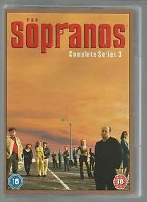 THE SOPRANOS - COMPLETE SERIES 3 - UK R2 DVD SET - mint condition - new/unplayed