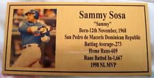 Baseball Legend Sammy Sosa Gold Plaque Photo