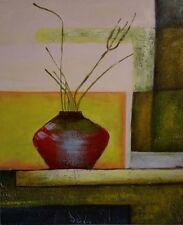 Hochwertiges Handgemaltes Ölbild Abstrakt Blume auf Holzrahmen gespannt 50x60 cm