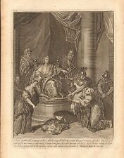 1770  ANTIQUE PRINT -BIBLE- THEN SPAKE THE WOMAN WHOSE THE LIVING CHILD WAS