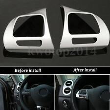 Steering Wheel Chrome Insert Cover Badge For VW Golf MK6 Jetta Passat B7 CC New