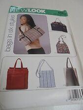 6365 New Look Handbag Sewing Pattern UNCUT 6 Handbag Shoulder Styles