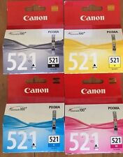 4x Genuine Canon CLI521,CLI-521 Ink Cartridges For MP640,MP630,MP980,MX860