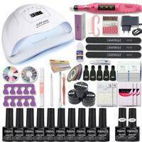 Nail UV lamp led 54W set kit dryer nail gel polish soak off manicure art