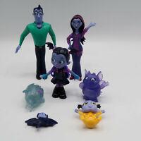 Disney Jr Vampirina Fangtastic Figures Lot of 7 Ghost Mom Dad Bat Baby Just Play