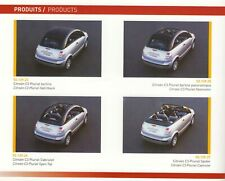 CITROEN C3 TR C4 Sport Rallye Xsara WRC Pluriel Prospekt Pressemappe Buch 2004 G