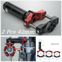 2 Pcs 42mm Motorcycle ATV Headlight Fixed Bracket Spot Light Extension Rod Lever