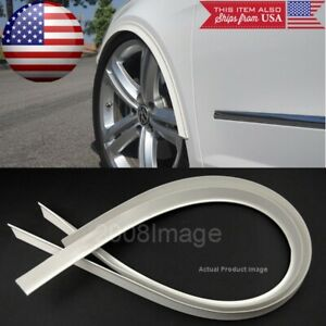 "2 Pieces 47"" White Arch Wide Body Fender Flares Extension Lip Guards For  Chevy"
