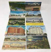 VINTAGE POSTCARDS Hotel Motel Lot of 10 Greenbrier San Antonio Austin #17-6920G