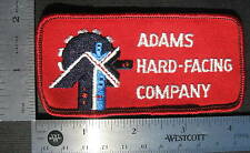 """ADAMS HARD FACING EMBROIDERED SEW ON ONLY PATCH WELDING ADVERTISING 4 1/4"""" x 2"""""""