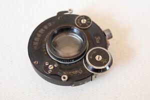 Carl Zeiss Jena 10.5cm 105mm f/4.5 Tessar 1c Lens Ica Dresden Compur Shutter 6x9