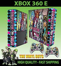 XBOX 360 E MONSTER HIGH VAMPIRE WOLF ZOMBIE STICKER SKIN & 2 PAD SKIN