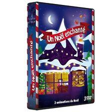 16701//COFFRET ANIMATION UN NOEL ENCHANTE COFFRET 3 DVD NEUF 10 HISTOIRE 5H55