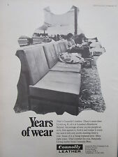 9/1971 PUB CONNOLY LEATHER CUIR SIEGE SEAT LONDON HEATHROW AIRPORT ORIGINAL AD