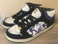 Men/'s Adio 71230506A Grip Skateboarding Shoes New Black//White R44