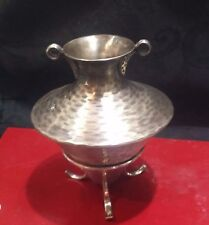 Collectible Vintage Sterling Silver Greek Wine Vessel with Stand Hand Hammered