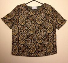 J.W. ANDERSON X TOPSHOP Quilted Silk Paisley Top UK 8 EUR 36