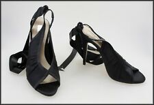 RMK WOMEN'S SATIN WRAP AROUND THE ANKLE HIGH HEEL SHOES SIZE 8 AUST 39 EUR NEW