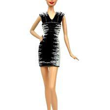 Barbie Herve Leger Max Azria modelo Muse Negro Y Blanco Vestido Ajustado