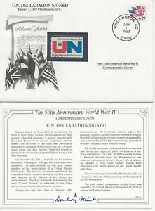 50th Ann WWII Comm/FDC - US - UN Declaration Signed - 1992 (019)Z