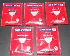 5 Packs Red Star Montrachet Wine Yeast - Home Wine Making Free Shipping!!!