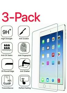 "3-Pack Tempered Glass Screen Protector For iPad 2 3 4 Air Pro 9.7""10.2'10.5"" 11"""