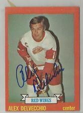 1973-74 Topps Hockey Alex Delvecchio Autographed Card JSA Certified (CSC)