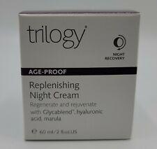 Trilogy Replenishing Night Cream Exp 10/2022 Regenerate & Rejuvenate Hyaluronic