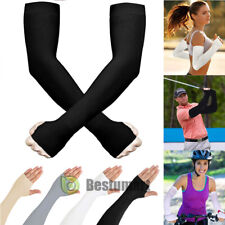 3/5Pair Cooling Arm Sleeves Cover UV Sun Protection Outdoor Sports For Men Women